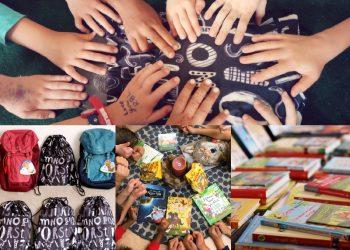 24 Bücherrucksäcke für zwei Grundschulen